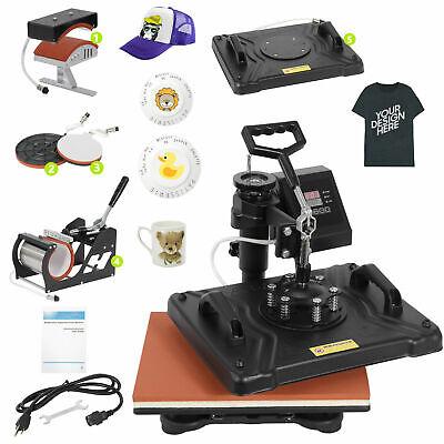 5 In 1 Digital Heat Press Machine Sublimation For T-shirtmugplate Hat Printer