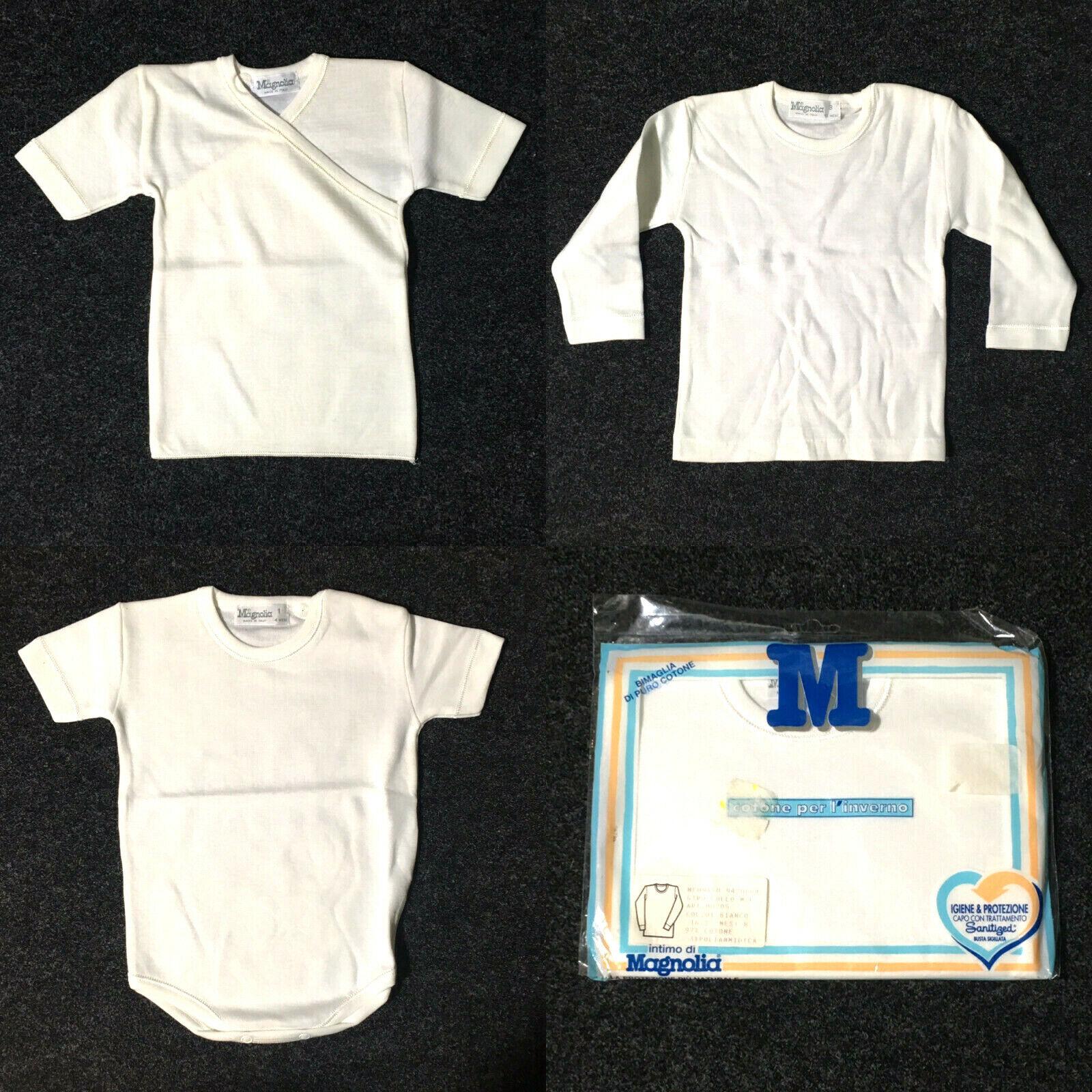Maglia NEONATO Abbigliamento Bimbo MAGNOLIA cotone bianco vari modelli 0 24 mesi