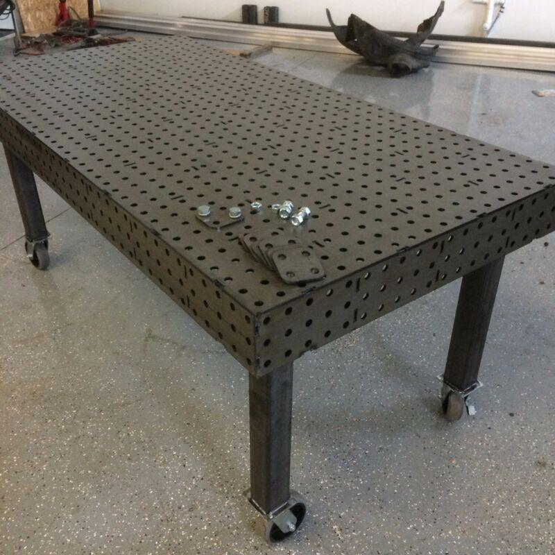 "Welding Fixture/Welding Table Plans 48""x96"" : DXF File"