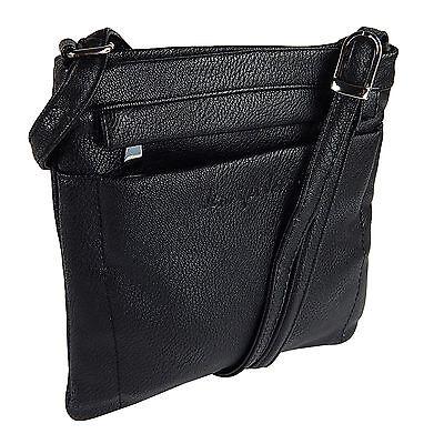Damentasche Schultertasche Umhängetasche Beutel Freizeit-shopper 3966 Schwarz 5