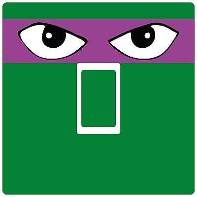 Light Switch Sticker [Single] Teenage Mutant Turtles bedroom (Purple Ninja Turtle)