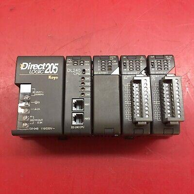 Koyo Direct Logic 205 With Dl240 D2-ctrint D2-16nd3-3 D2-16td2-2 Modules