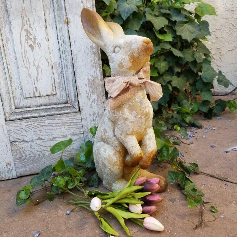 """Rustic Resin Garden Bunny Rabbit Figurine Statue 20"""""""
