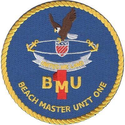 US Navy Beach Master Unit ONE BMU 1 Military Patch UNITED WE LAND