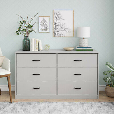 Mainstays Classic 6 Drawer Dresser, Dove Gray, FREE SHIPPING