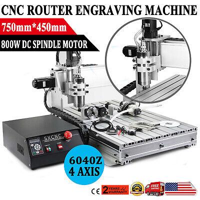 Usb Cnc Router 6040z 4 Axis Engraver Engraving Machine Woodwork 1500w Vfd