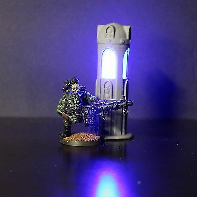 Glowing Light Fixture, Terrain, 40k, Necromunda, Infinity, Sci-Fi