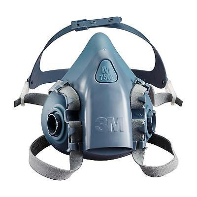3M 7502 Medium Half Face Premium Reusable Dust Mask / Respirator & 6038 Filters