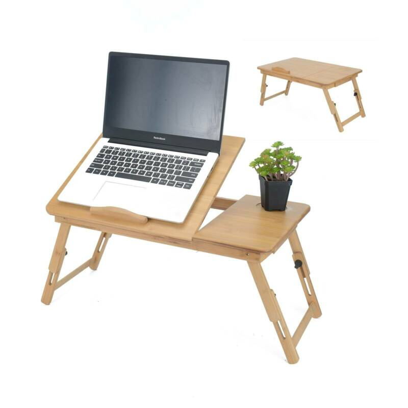 Adjustable Laptop Lazy Side Table Stand Sofa Bed PC Notebook Computer Desk Tray