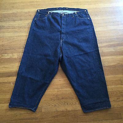 1940 Vtg Double X Leather Patch Hidden Rivets Suspender Levis 501Xx 501s Us 50 2