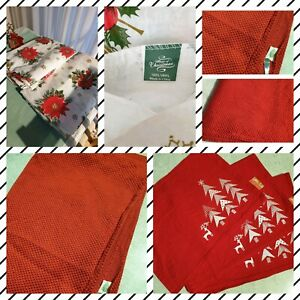 2 large vinyl table cloth Christmas decorations