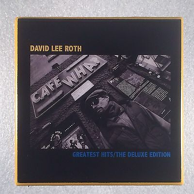 DAVID LEE ROTH Greatest Hits Record Cover Art Ceramic Tile Coaster