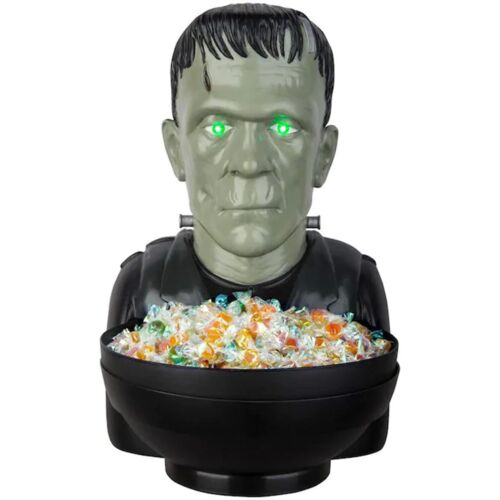 🔥 Frankenstein Animated Candy Bowl Halloween Universal Monsters LED Lights Up