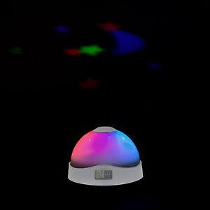 LED Digitalwecker mit Farbwechsel Sternenhimmel Nachtlicht Alarm Uhr Projektor