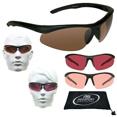 Polarisiert Sport Sonnenbrille Blau Blocker HD Vision Rose Rosa Linse Men Damen
