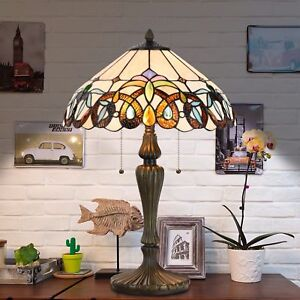 Victorian table lamp ebay tiffany style victorian floral stained glass table and desk light art decor gift aloadofball Choice Image