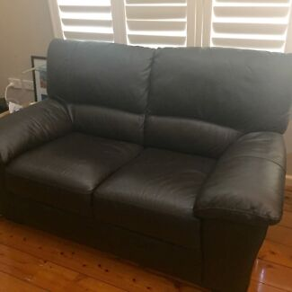Two seater leather sofa  Denistone West Ryde Area Preview