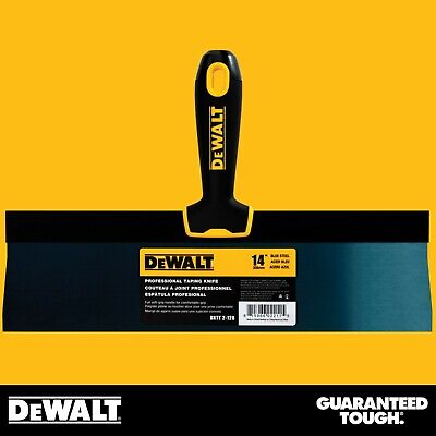 Dewalt Taping Knife 14 Premium Blue Steel Drywall Finishing Tool Soft-grip