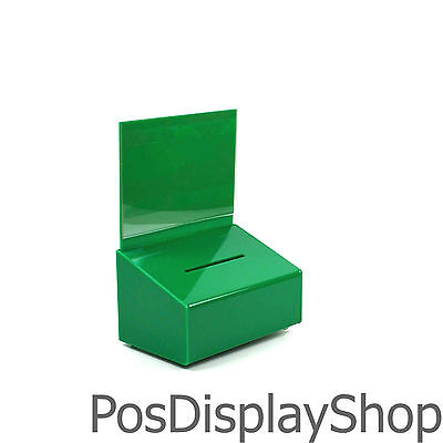 Suggestion Box / Collection Box Small Lockable - BB0003 Green