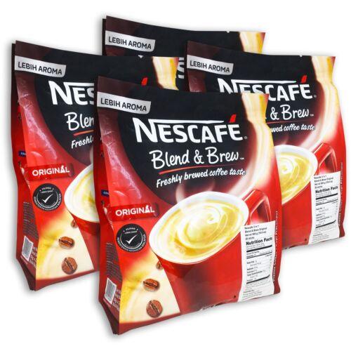 NESCAFE 3 in 1 Original Blend&Brew Instant Coffee 112 sticks(4-pack) BB 08/31/21