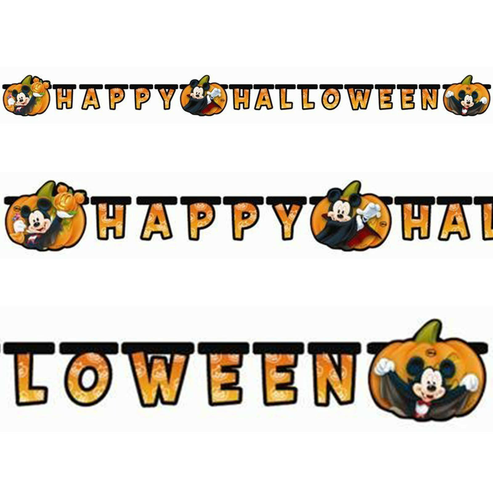 Happy Halloween Disney Mickey Mouse Party Cutout Letter