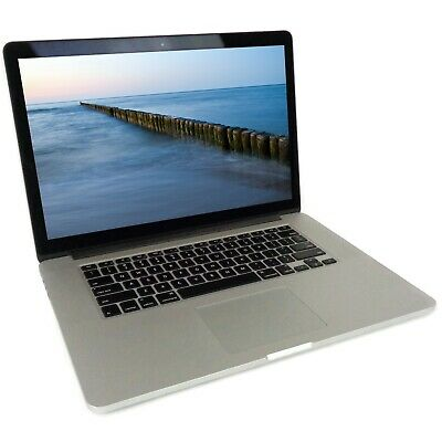 "Apple MacBook Pro A1398 (2015) 15.4"" Laptop Core i7-4770HQ 2.2GHz 16GB 500GB SSD"