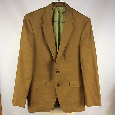 1950s 60s Vintage Mens Sports coat Jacket Blazer Gabardine Hollywood Gangster S (60s Gangster)