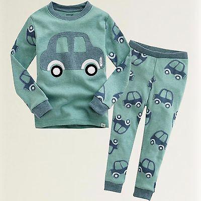 "Vaenait Baby Infact Clothes Toddler Kids Sleepwear Pajama ""Mini Car"" XL(6-7T)"