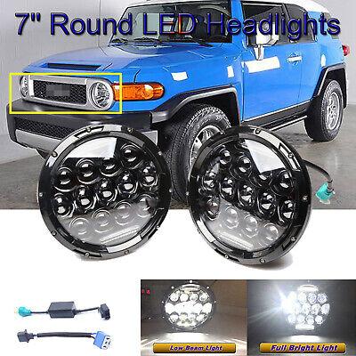 7'' LED Headlights For Toyota FJ Cruiser 2007-2014 H6024 VS Halogen Replacement