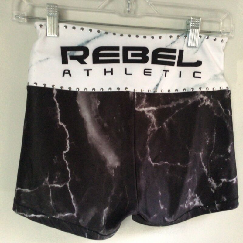 REBEL Cheer Athletics AM Cheerleading Uniform Shorts Practice Adult Small NWOT