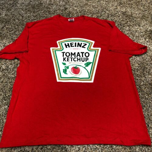 Heinz Tomato Ketchup Grown Not Made Mens XL Shirt Vintage Delta Pro Weight NOS