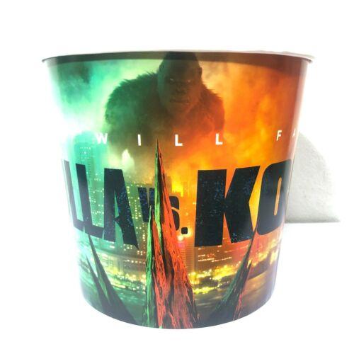 Paper Popcorn Bucket 65 oz.GODZILLA VS.KONG Movie 2021 Cinemas Theatres