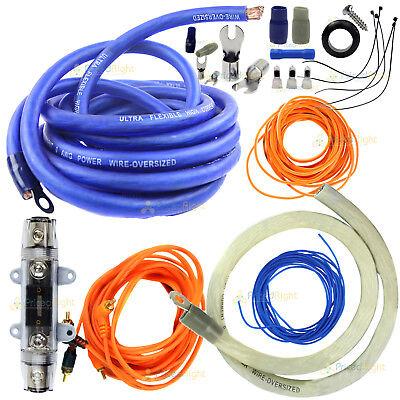 True 0 Gauge Amp Kit Amplifier Install Wiring Complete Installation 5000 Watt