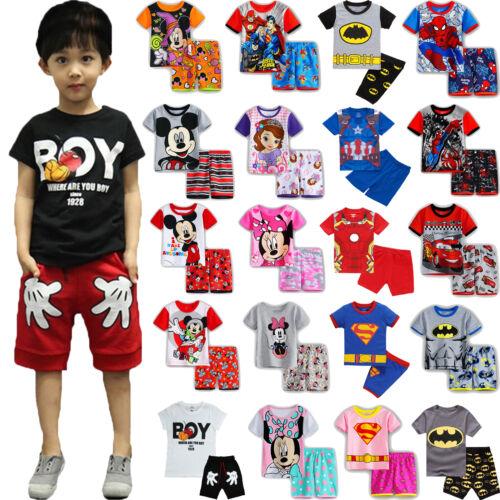 Kids Boys Girls Pajamas Sleepwear Loungewear Nightwear Pyjam