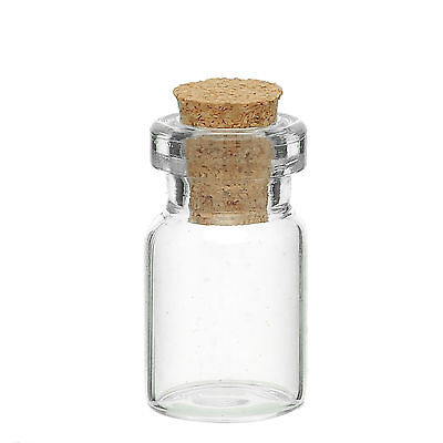 50 x 1in Glass Bottles & Cork 26.5mm Mini Bottle Fairy Dust Seeds Potion etc