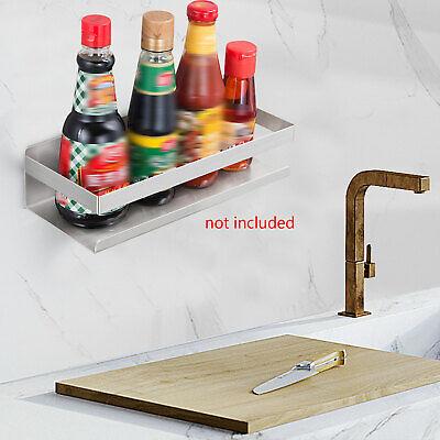 Stainless Steel Shelf Wall Mount Bath Shelving Kitchen Seasoning Can Heavy Duty
