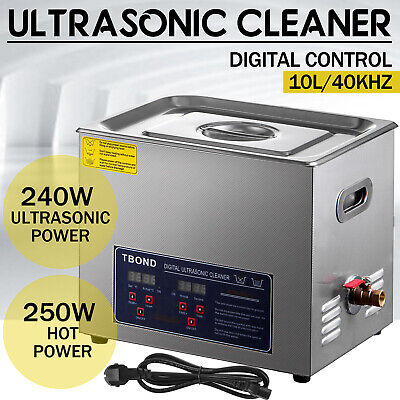 Industry Heated Digital 10l Stainless Steel Ultrasonic Cleaner Heater Wtimer
