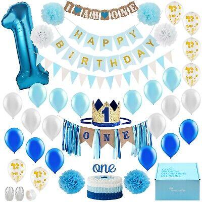 First Birthday Decoration (1st Birthday Boy Decorations - First Birthday Boy Decorations BOX (Mega Box))