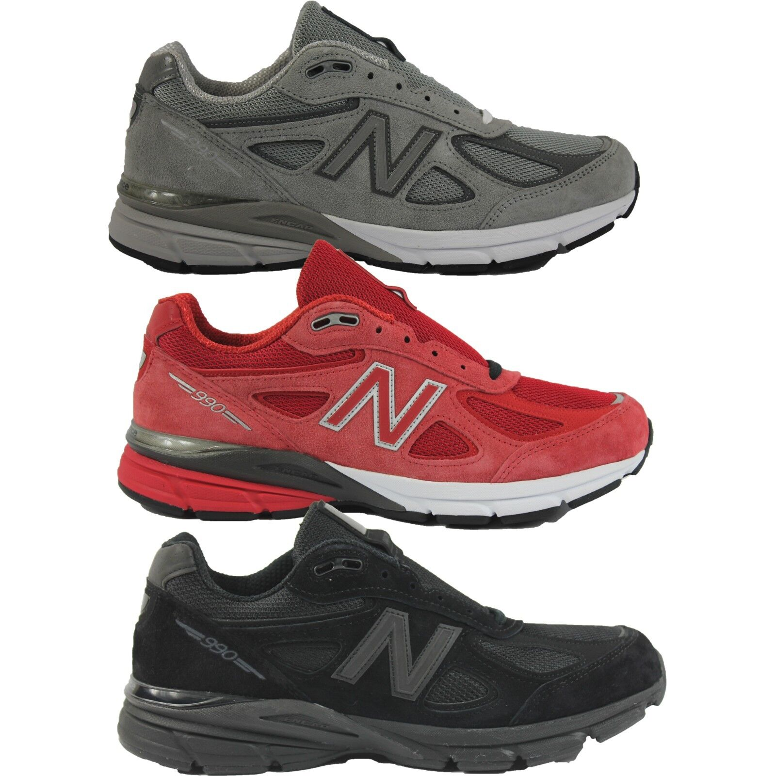 wholesale dealer 69807 8cabd Mens New Balance M990BB4 GL4 RD4 M990v4 Premium Running Shoes Sneakers USA  Made