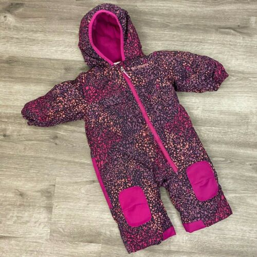 Columbia Girls 6-12 month Winter Bunting hooded insulated full zip snowsuit