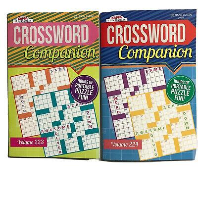 2 Puzzle Books Crossword Companion Vol 223 224 Kappa Games Search Pocket Size
