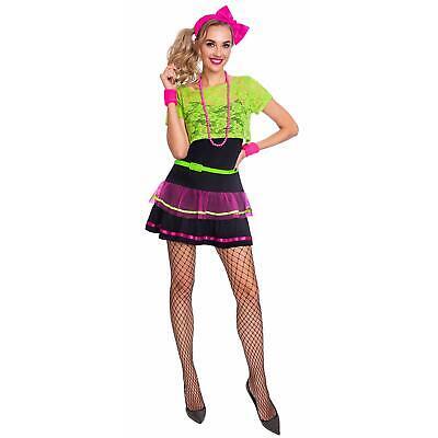 Adult's Ladies Neon 80's 90's Beads Rave Pop - 80's Raver Kostüm