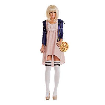 Womens Stranger Costume Pink Dress Socks Jacket Things Eleven Group S M L XL