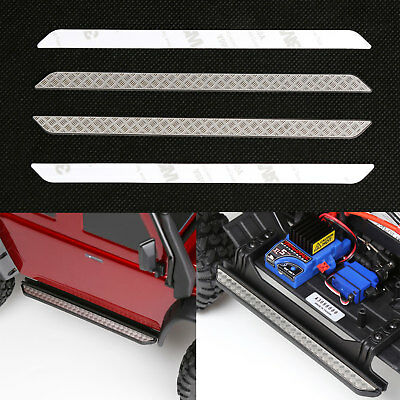 - Stainless Steel Diamond Rock Rails Plate Side Step Cover For Traxxas TRX-4 TRX4