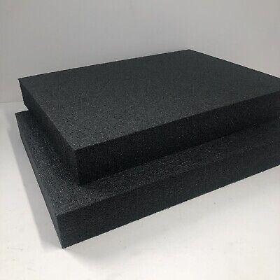 2.2 Black 1 X 12 X 16 Polyethylene Plank Foam Density 2.2 Pcf. Black 2 Pieces