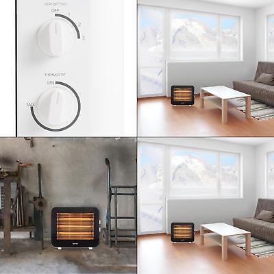 Freestanding Portable Heater - 1500 Watt INFRARED HEATER Electric Freestanding Portable Quartz Radiant White