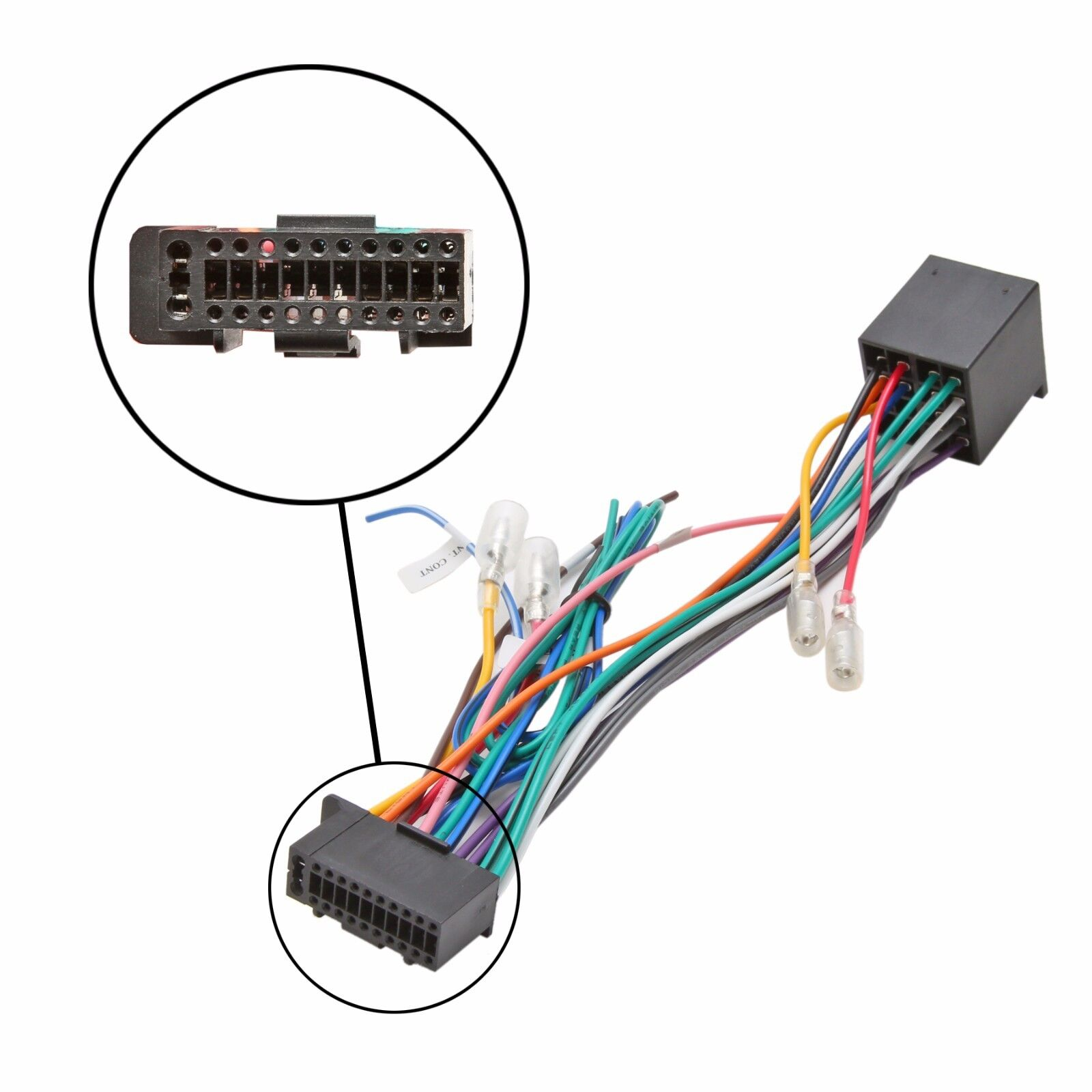 Iso Wiring Harness Connector Adaptor For Kenwood 12 Pin 22 Diagram Car Stereo Radio Loom