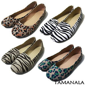 Pretty-Womens-Lady-Ballet-Flats-Casual-Ballerina-Comfort-Shoes-NEW-Leopard-Zebra