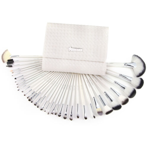 36pcs Professional White Full Set Cosmetic Brush Makeup Blus