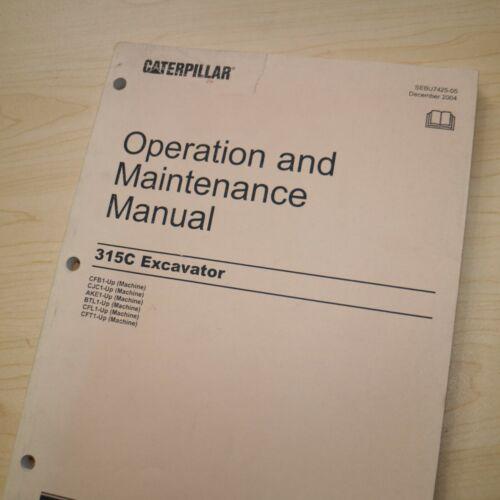 CAT CATERPILLAR 315C L Crawler Excavator Owner Operator Maintenance Manual book